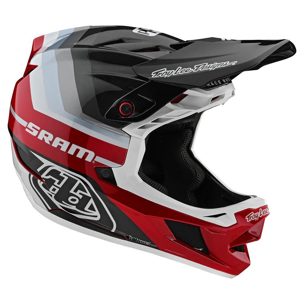 Troy Lee Designs D4 Carbon 2020 Mirage Sram Black/Red Casco Bicicleta
