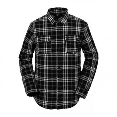 camisa hombre snowboard, volcom, sherpa flannel jacket, negro