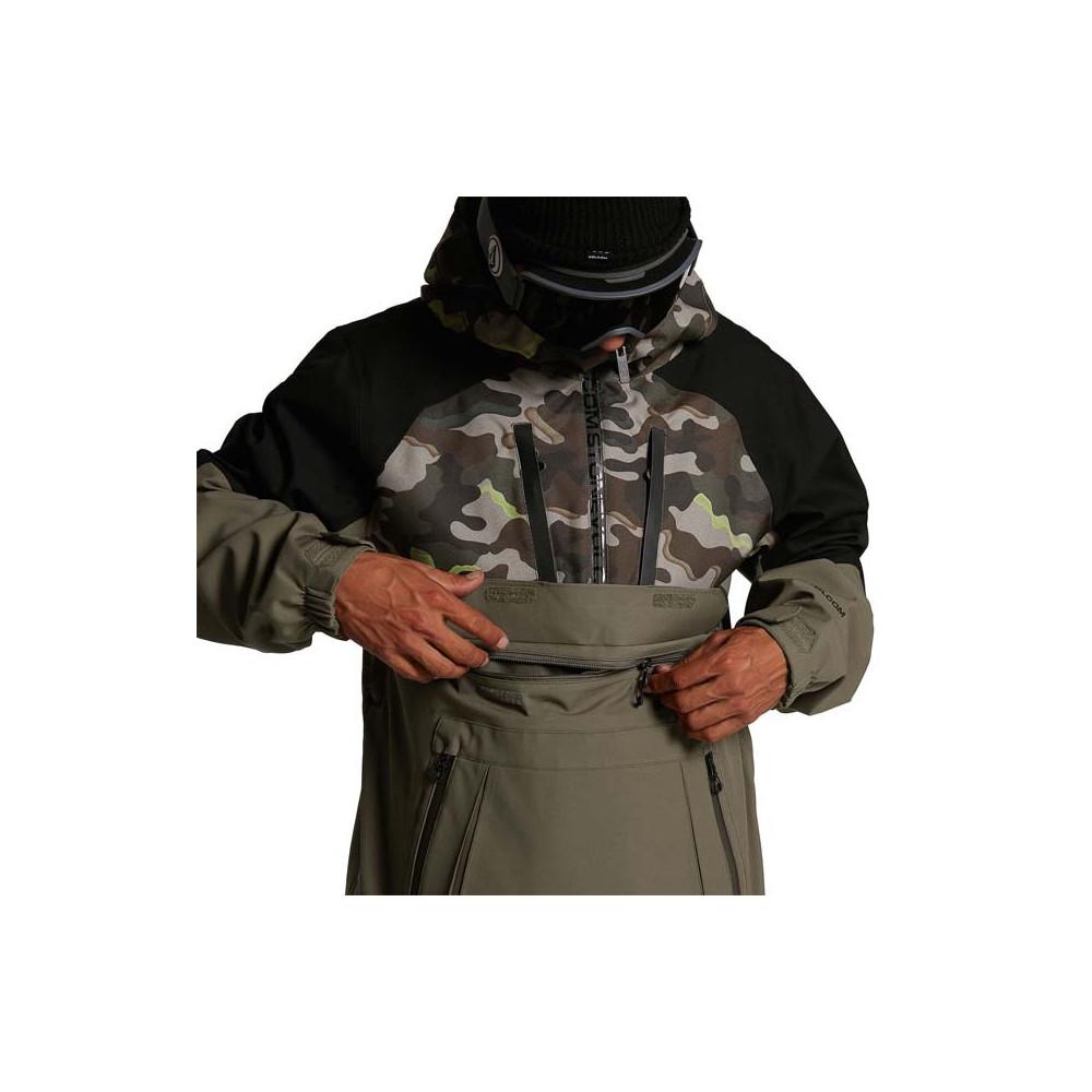 Jersey Pullover Volcom Brighton Hombre Army 2021