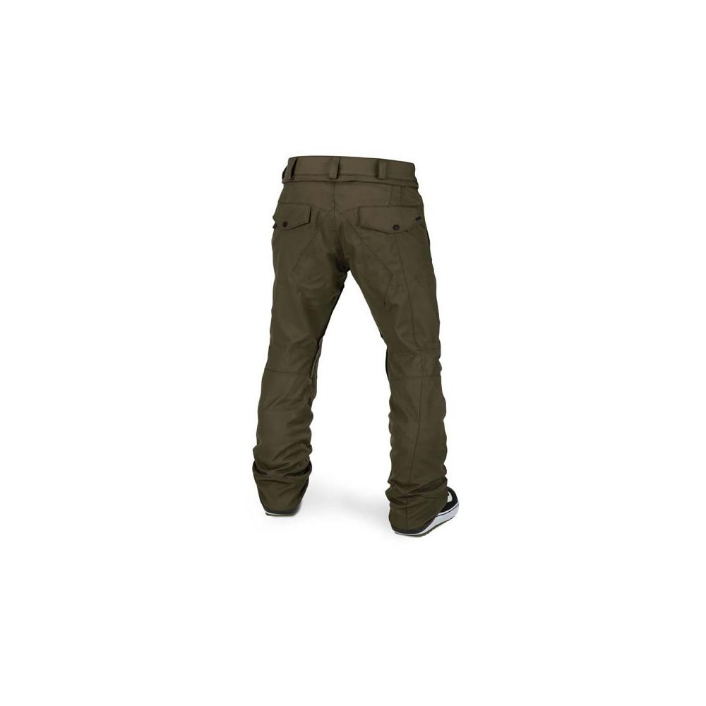 Pantalón de nieve Volcom Articulated Hombre Negro Militar 2021