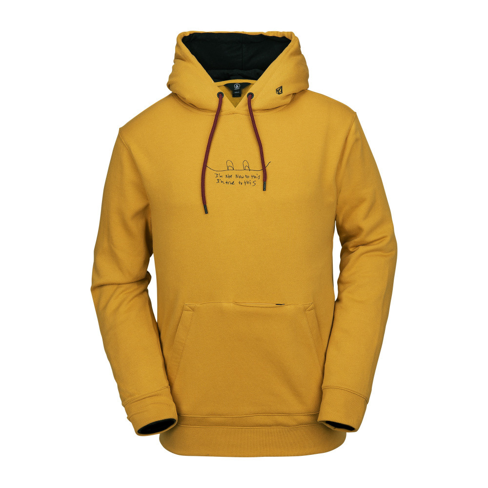 Volcom JLA P/Over Fleece Resin Gold Sudadera Snowboard Hombre 2020