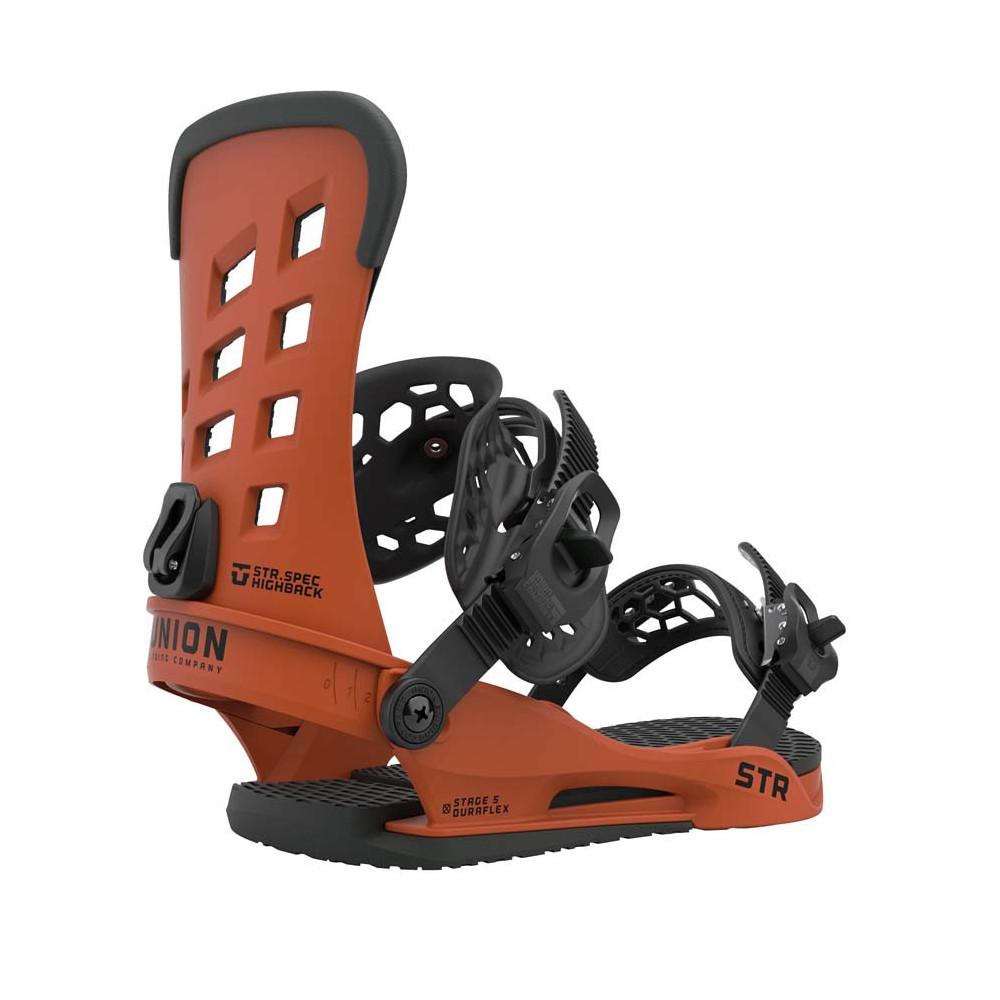 Union STR Fijación Snowboard Hombre Burnt Orange 2021