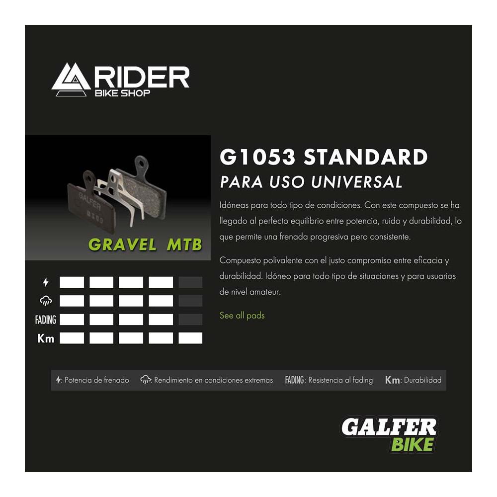 GALFER BIKE STANDARD BRAKE PAD SHIMANO DEORE BR- FD293P1053