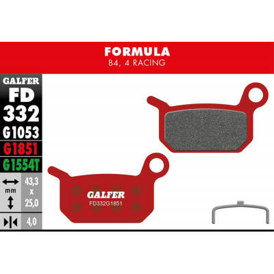 GALFER BIKE PRO BRAKE PAD FORMULA 4 RACING - B4 - FD332G1851
