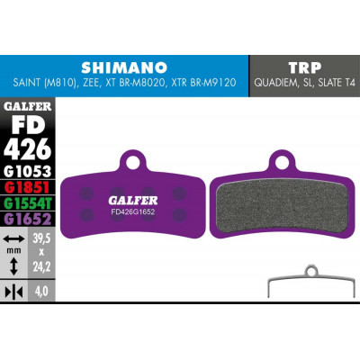 GALFER E-BIKE BRAKE PAD SHIMANO SAINT - ZEE - FD426G1652