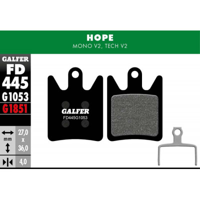 GALFER BIKE STANDARD BRAKE PAD HOPE MONO V2 - TECH V2 - FD445G1053