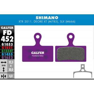 GALFER E-BIKE BRAKE PAD SHIMANO XTR - SLX - FD452G1652