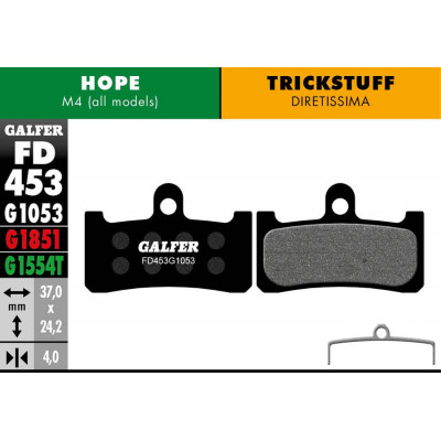 GALFER BIKE STANDARD BRAKE PAD HOPE M4 - FD453G1053