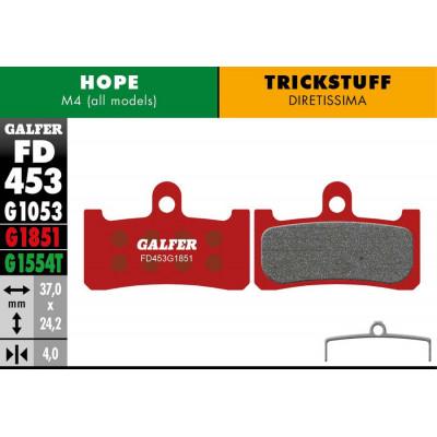 GALFER BIKE ADVANCED BRAKE PAD HOPE M4 - FD453G1851