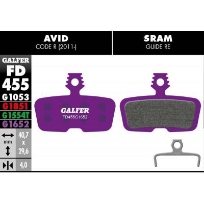 GALFER E-BIKE BRAKE PAD AVID CODE R (11-) - FD455G1652