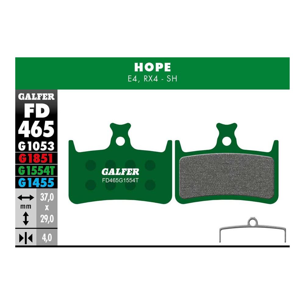GALFER BIKE PRO BRAKE PAD HOPE E4 - FD465G1554T
