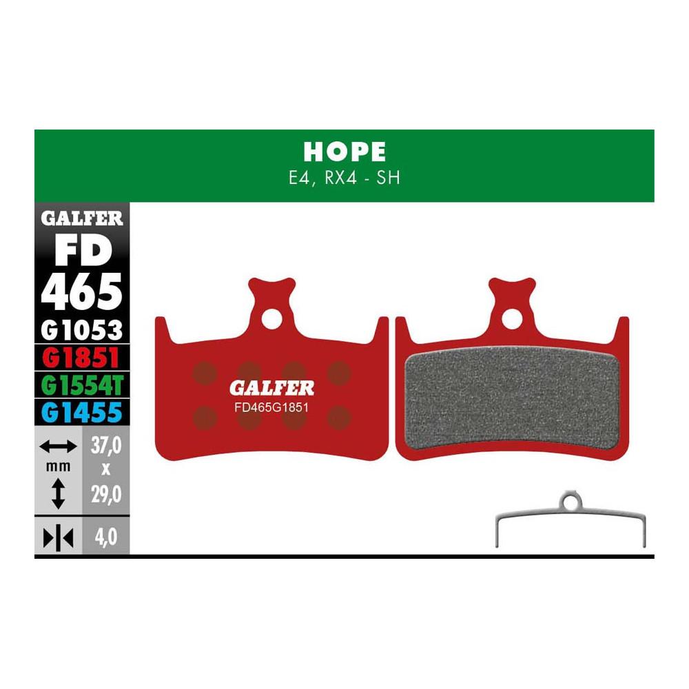 GALFER BIKE ADVANCED BRAKE PAD HOPE E4 - FD465G1851
