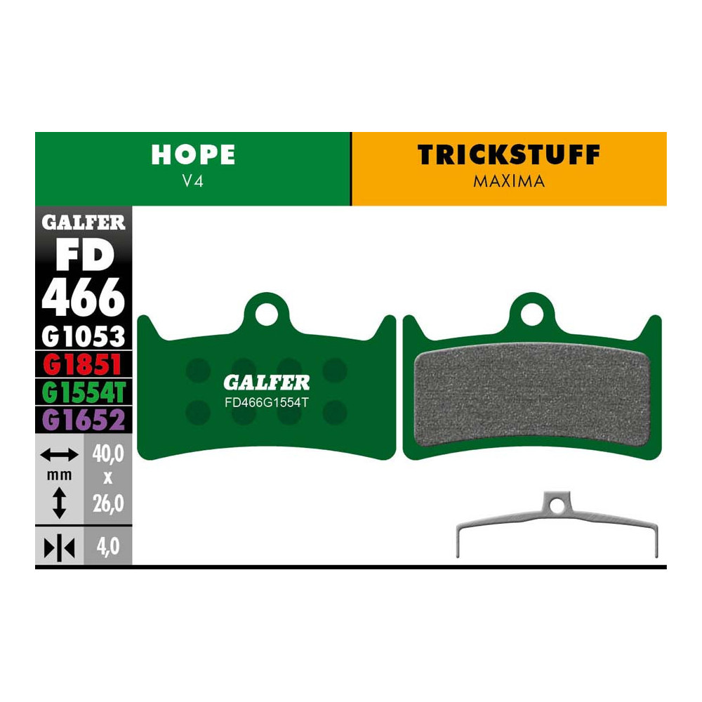 GALFER BIKE PRO BRAKE PAD HOPE V4 - FD466G1554T