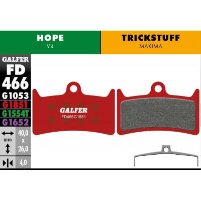 GALFER BIKE ADVANCED BRAKE PAD HOPE V4 - FD466G1851