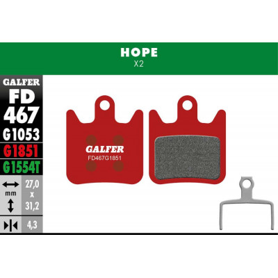 GALFER BIKE ADVANCED BRAKE PAD HOPE X2 - FD467G1851
