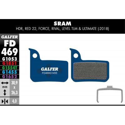 GALFER BIKE ROAD BRAKE PAD SRAM RED 22 - LEVEL - FD469G1455