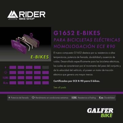 GALFER E-BIKE BRAKE PAD SRAM RED 22 - LEVEL - FD469G1652