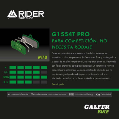 GALFER BIKE PRO BRAKE PAD SRAM RED 22 - LEVEL - FD469G1554T