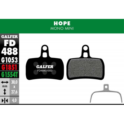 GALFER BIKE STANDARD BRAKE PAD HOPE MONO MINI - FD488G1053