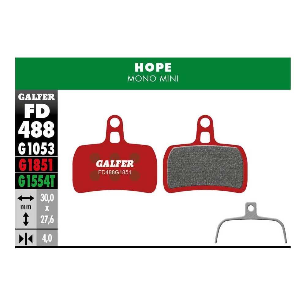 GALFER BIKE ADVANCED BRAKE PAD HOPE MONO MINI - FD488G1851