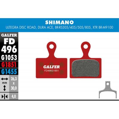GALFER BIKE ADVANCED BRAKE PAD SHIMANO XTR 2019 (2p.) - FD496G1851