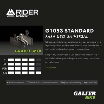 GALFER BIKE STANDARD BRAKE PAD SHIMANO XTR 2019 (2p.) - FD496G1053