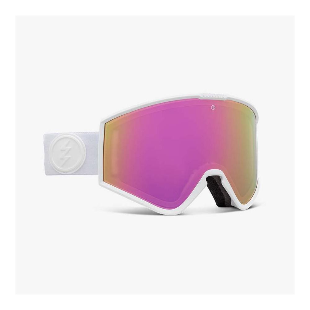 KLEVELAND MATTE WHITE, gafa de esqui electric, gafas de nieve electric