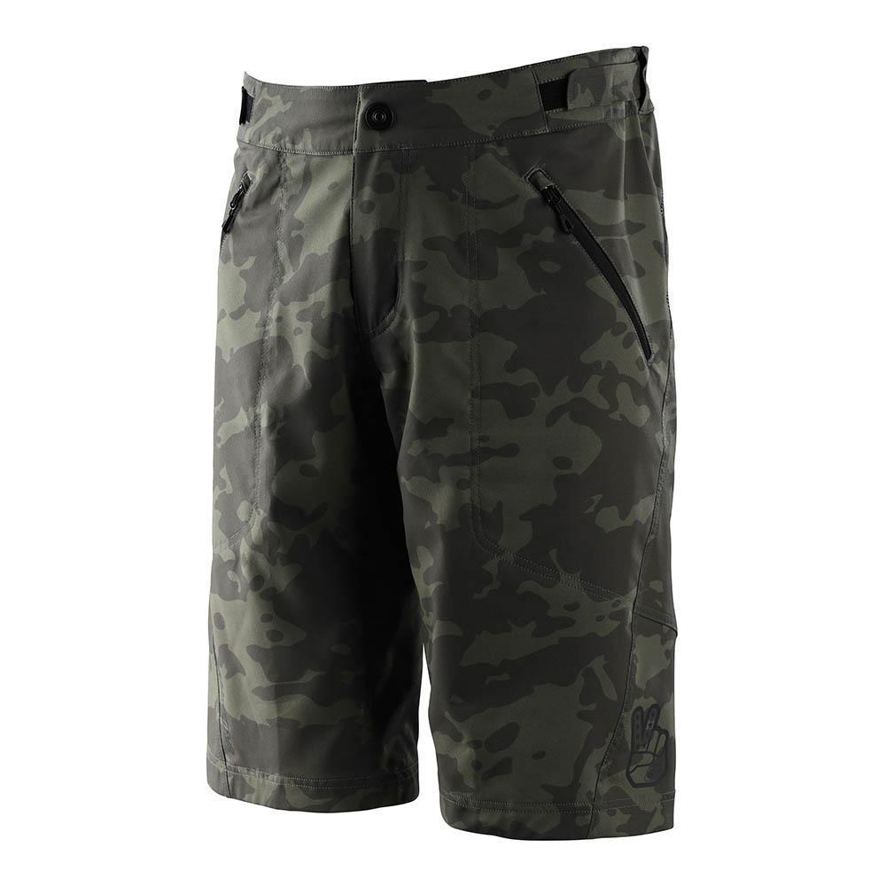 Troy Lee Flowline Short Camo Green pantalón corto bicicleta