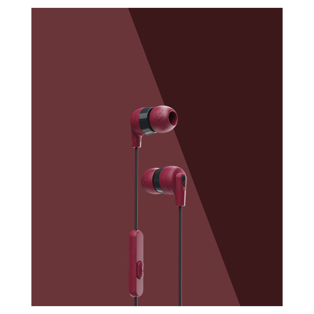SkullCandy Ink'd+ Earbuds with Microphone Moab/Red
