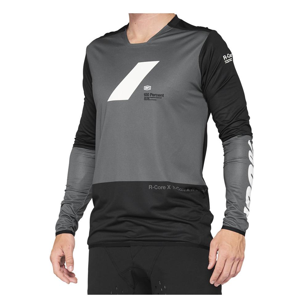 Camiseta bicicleta 100% R-CORE X Jersey Charcoal/Black