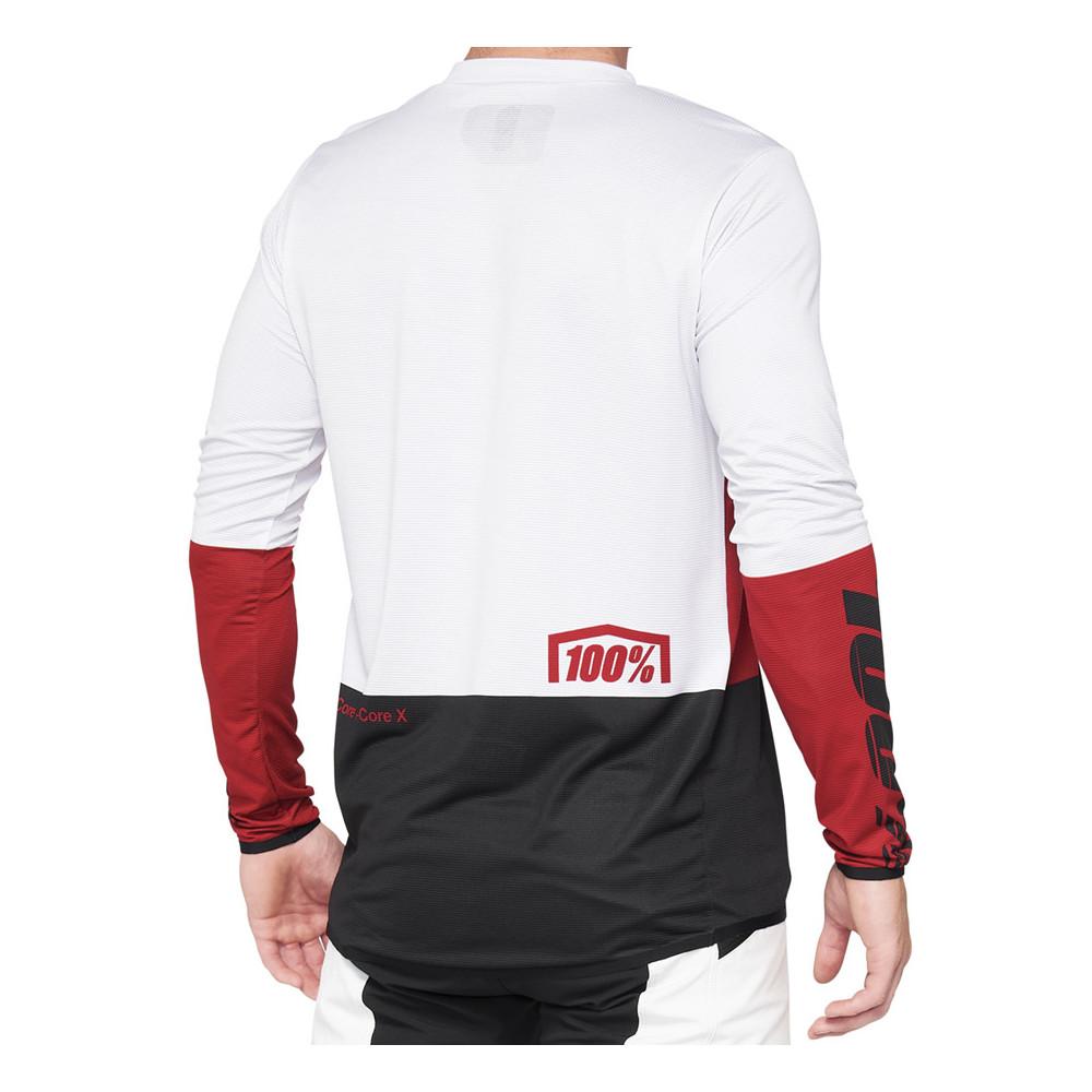Camiseta bicicleta 100% R-CORE X Jersey Cherry/Black