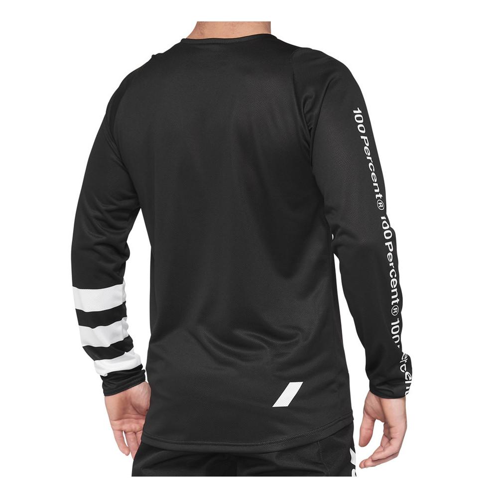 Camiseta bicicleta 100% R-CORE Jersey Black/White