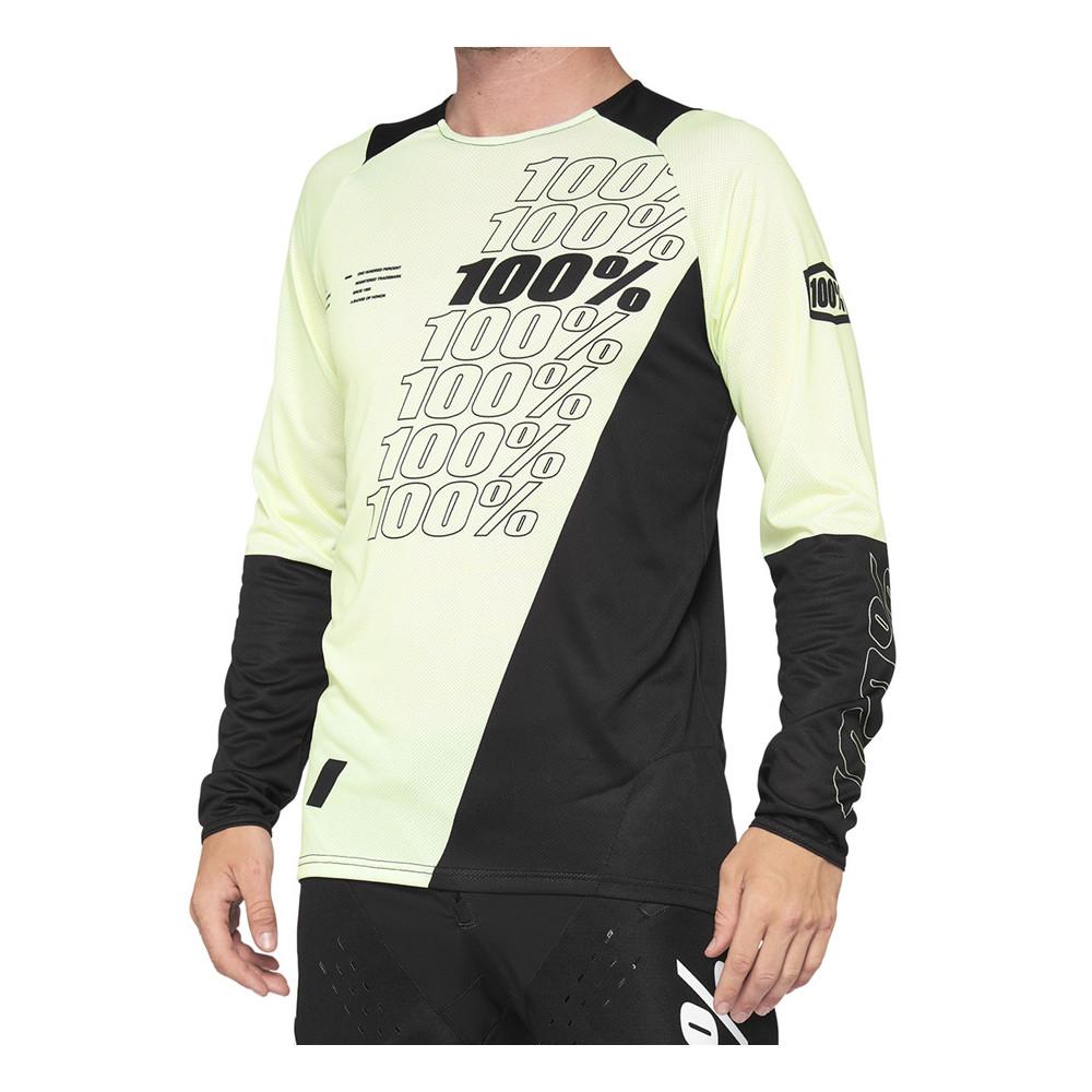 Camiseta bicicleta 100% R-CORE Jersey Yellow/Black