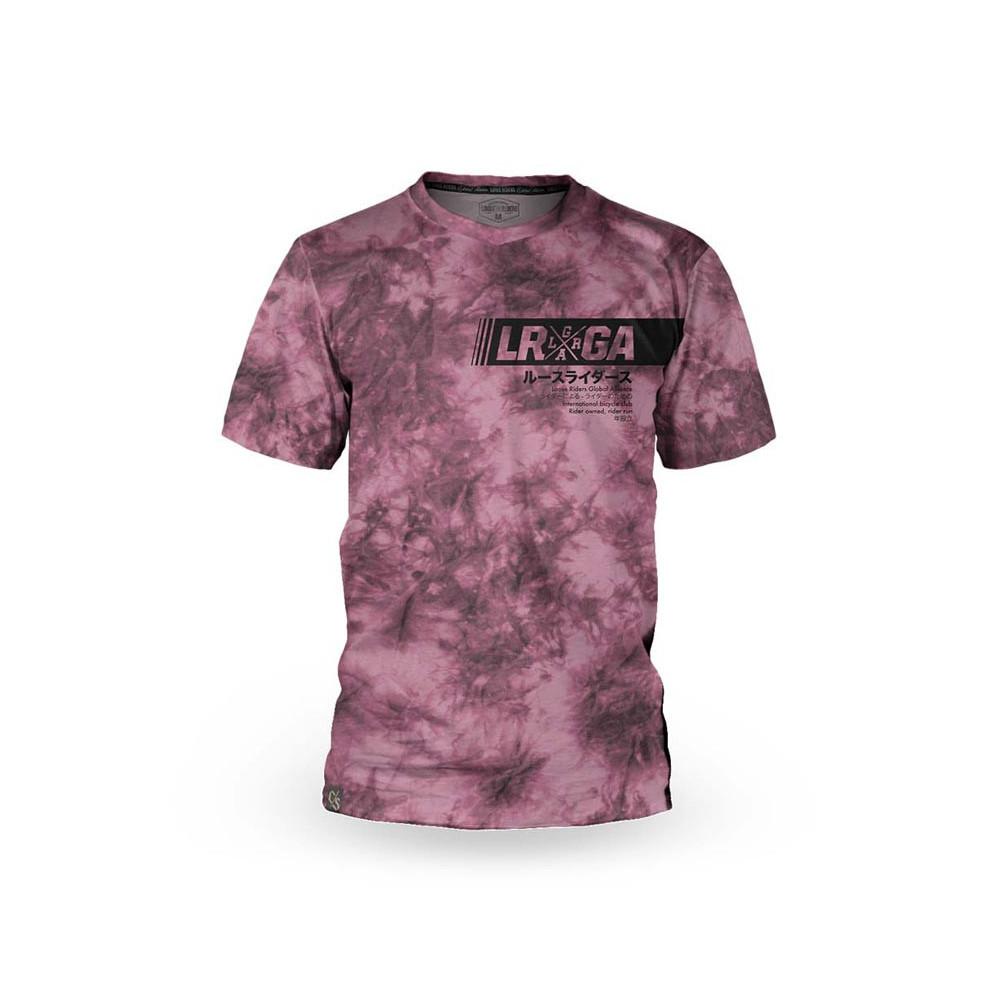 Camiseta bicicleta manga corta hombre Loose Riders Cult of Shred Tie Dye Wine-s