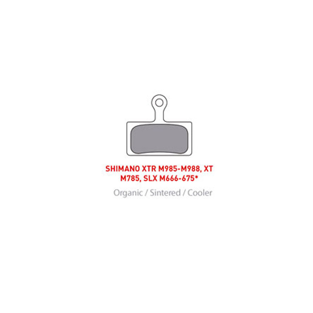 Pastillas de Freno ONOFF Organic Pads Shimano XT/XTR