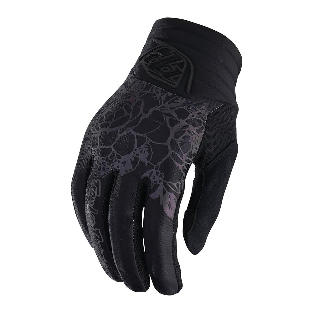 Troy Lee Womens Luxe Glove Floral Black guante mujer bicicleta