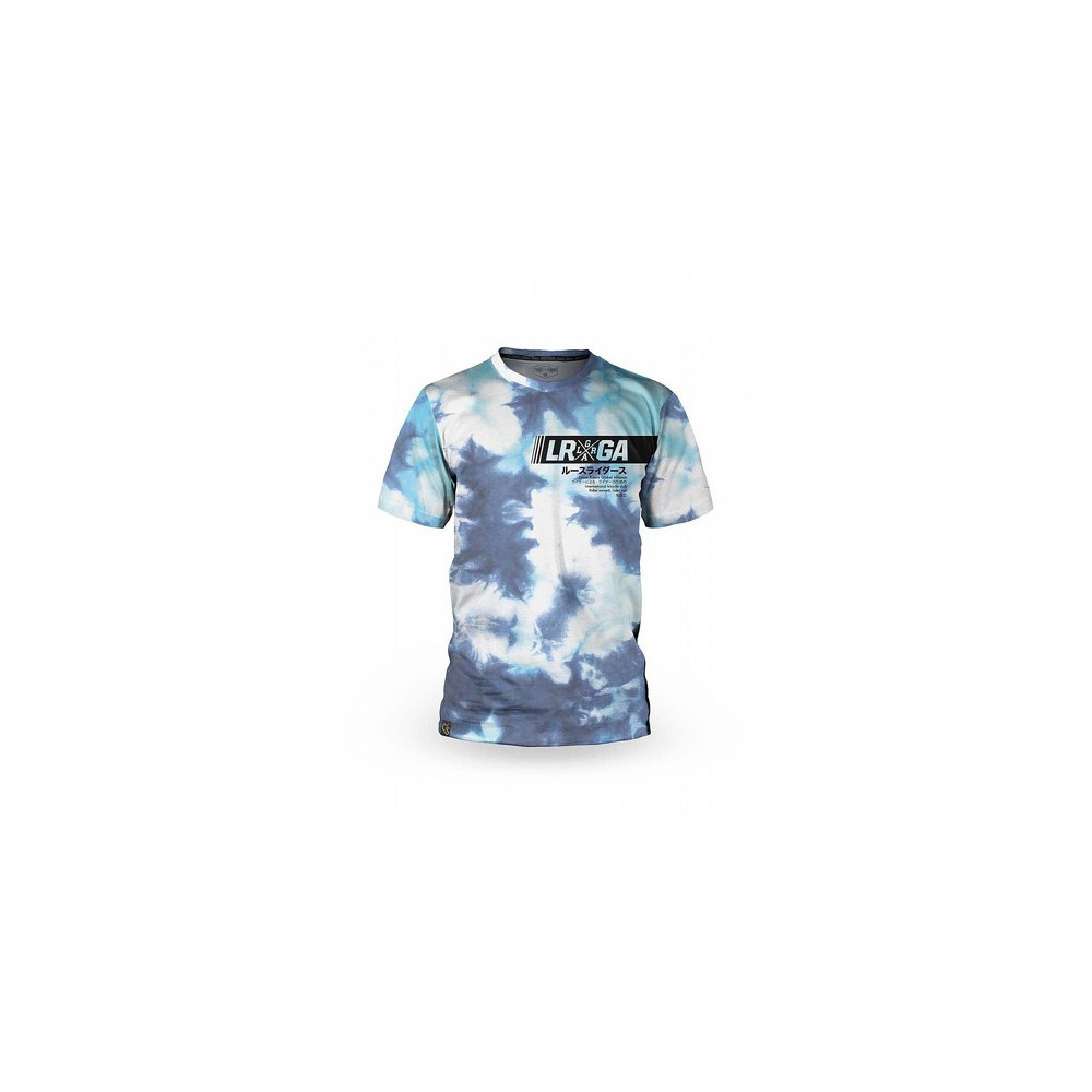 Camiseta bicicleta manga corta hombre Loose Riders Cult of Shred Tie Dye Crystal