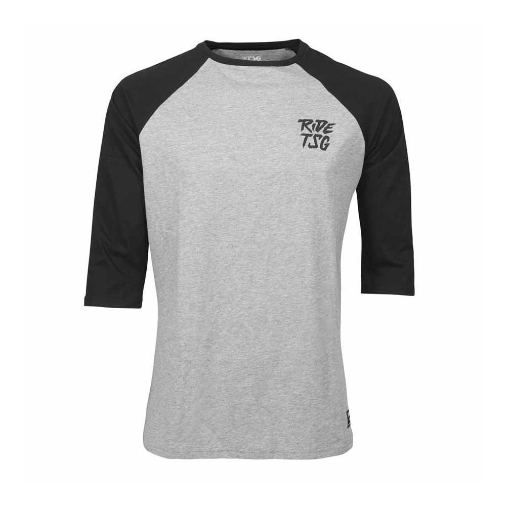 TSG Ripped Raglan T-Shirt Grey/Black
