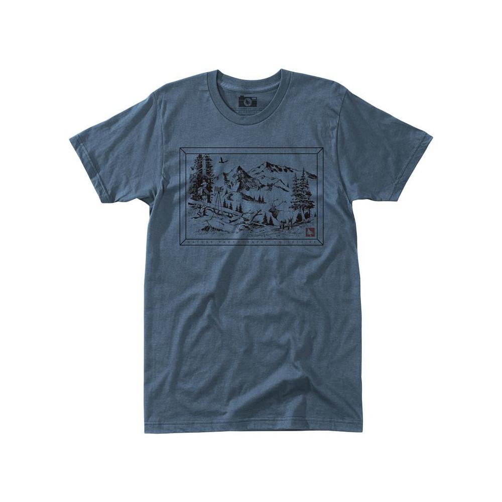 HippyTree Landscape Tee Steel Blue