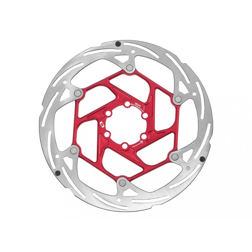 ONOFF 2 Piezas CNC 140mm Disco Rojo Ciclismo