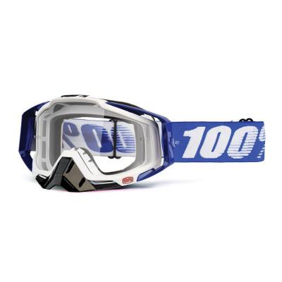 100% RACECRAFT COBALT BLUE Gafas Bicicleta Montaña MTB (LENTE TRANSPARENTE)